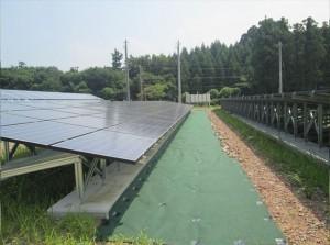 福井県あわら市太陽光発電施設(施工後)
